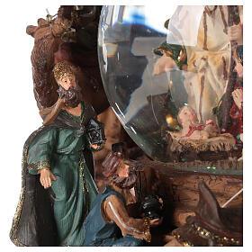 Nativity snow globe angel music Silent Night 20x20x15 cm s4
