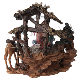 Nativity snow globe angel music Silent Night 20x20x15 cm s7