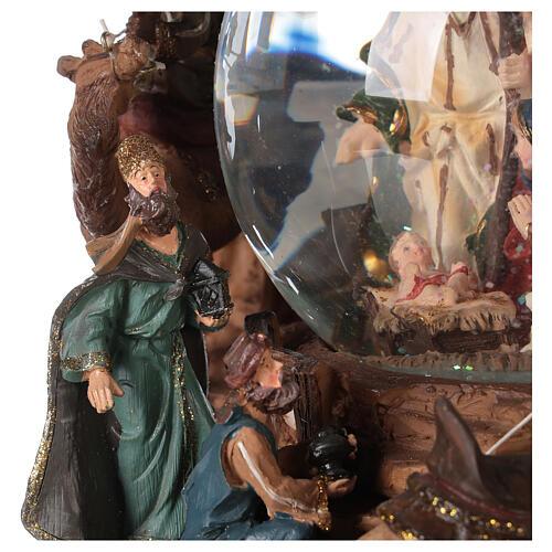Nativity snow globe angel music Silent Night 20x20x15 cm 4