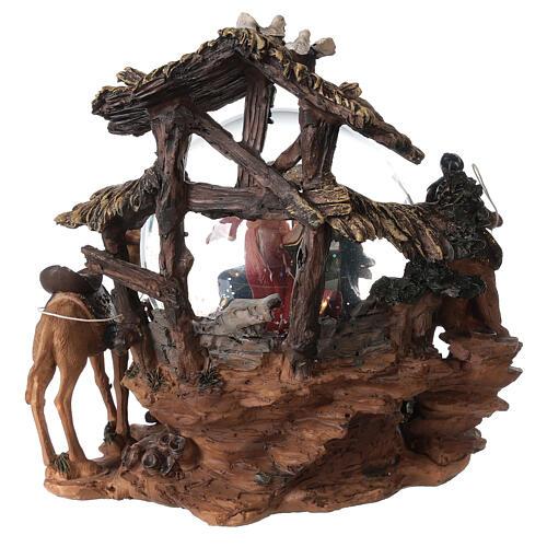 Nativity snow globe angel music Silent Night 20x20x15 cm 7