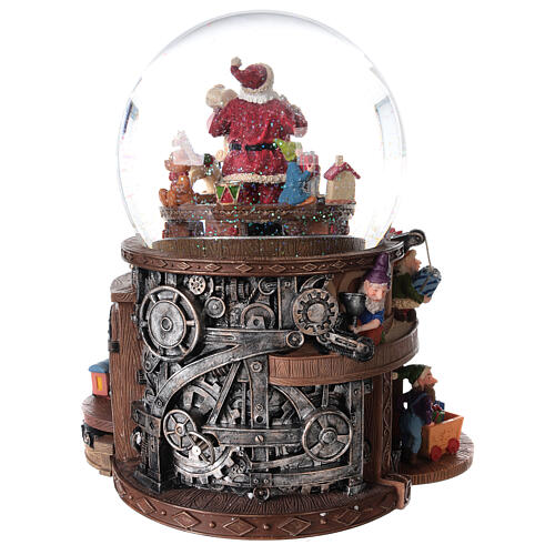 Snow globe santa's workshop music 25x25x15 cm 7