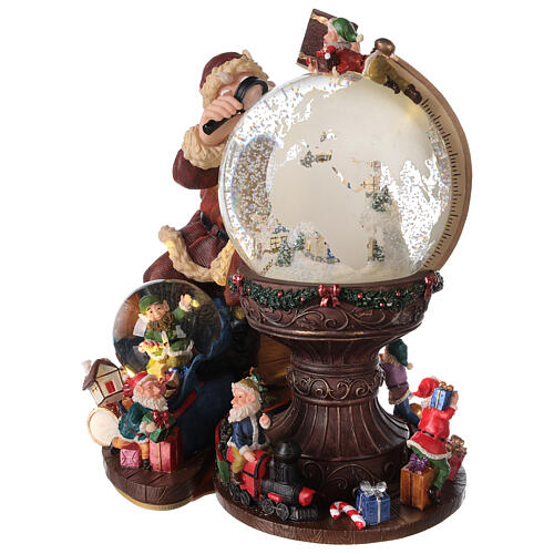 Musical snow globe Santa world globe 25x25x20 cm 3