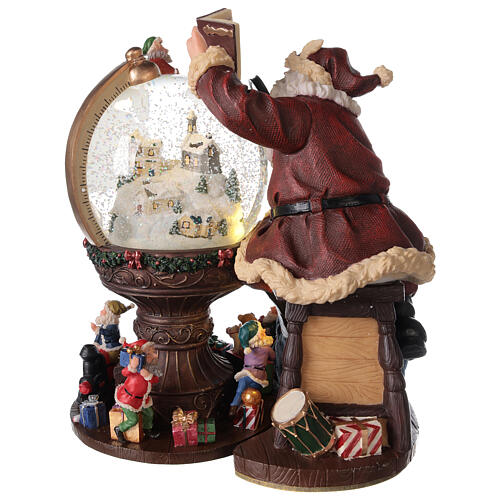 Musical snow globe Santa world globe 25x25x20 cm 8