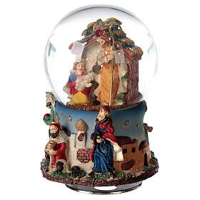 Boule à neige Nativité Rois Mages boîte musicale Noël 80 mm s3