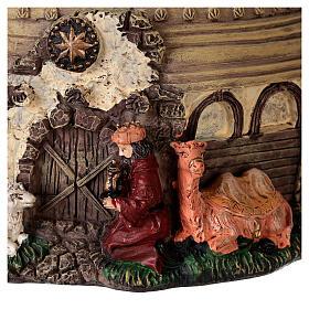 Boule à neige paillettes Nativité crèche boîte musicale 20x20x20 cm s4