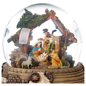 Glitter snow globe Nativity scene music 20x20x20 cm s7