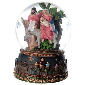 Palla di vetro neve Fuga Egitto carillon 15x10x10 cm s3