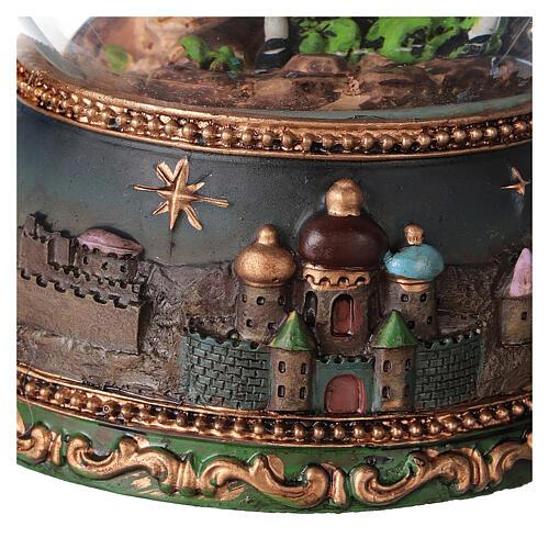 Palla di vetro neve Fuga Egitto carillon 15x10x10 cm 4