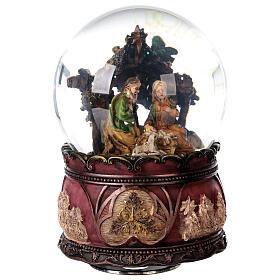 Nativity glitter snow globe music 15x10x10 cm s5