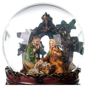 Nativity glitter snow globe music 15x10x10 cm s6