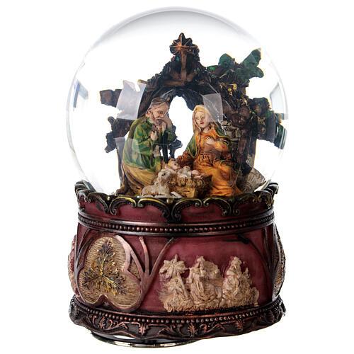Nativity glitter snow globe music 15x10x10 cm 1