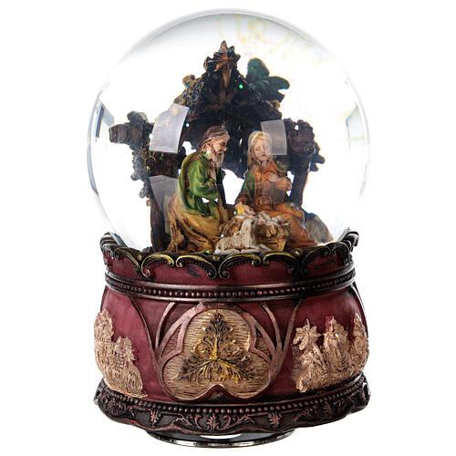 Nativity glitter snow globe music 15x10x10 cm 5