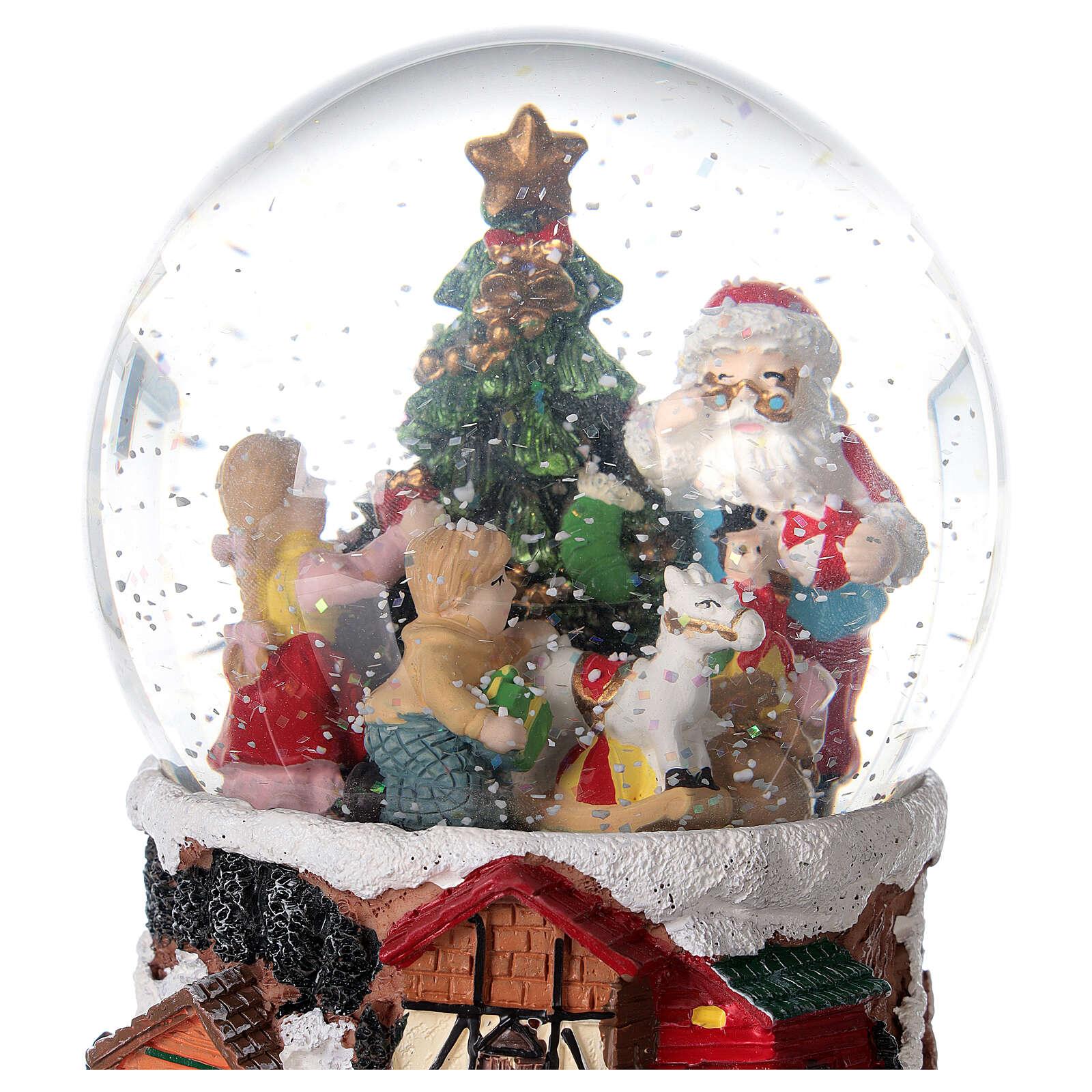 Christmas snow globe rotating music Santa Claus 15x10x10 cm 3