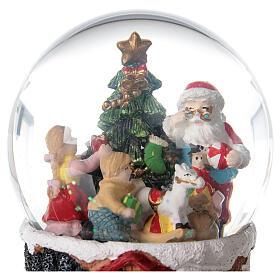 Christmas snow globe rotating music Santa Claus 15x10x10 cm s4