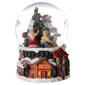 Christmas snow globe rotating music Santa Claus 15x10x10 cm s5