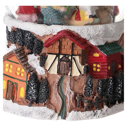 Szklana kula z wirującym śniegiem pozytywka Święty Mikołaj 15x10x10 cm 6