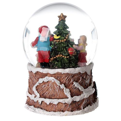 Szklana kula z wirującym śniegiem pozytywka Święty Mikołaj 15x10x10 cm 7