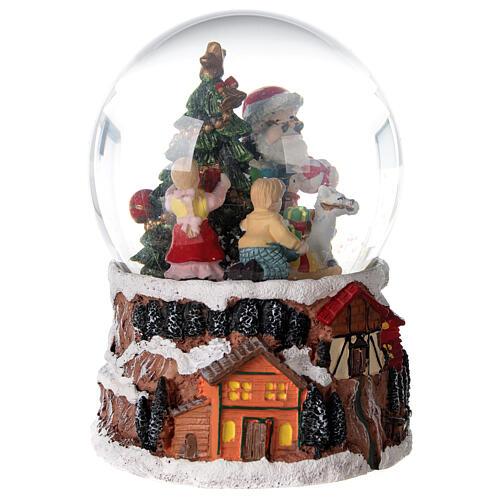 Christmas snow globe rotating music Santa Claus 15x10x10 cm 5