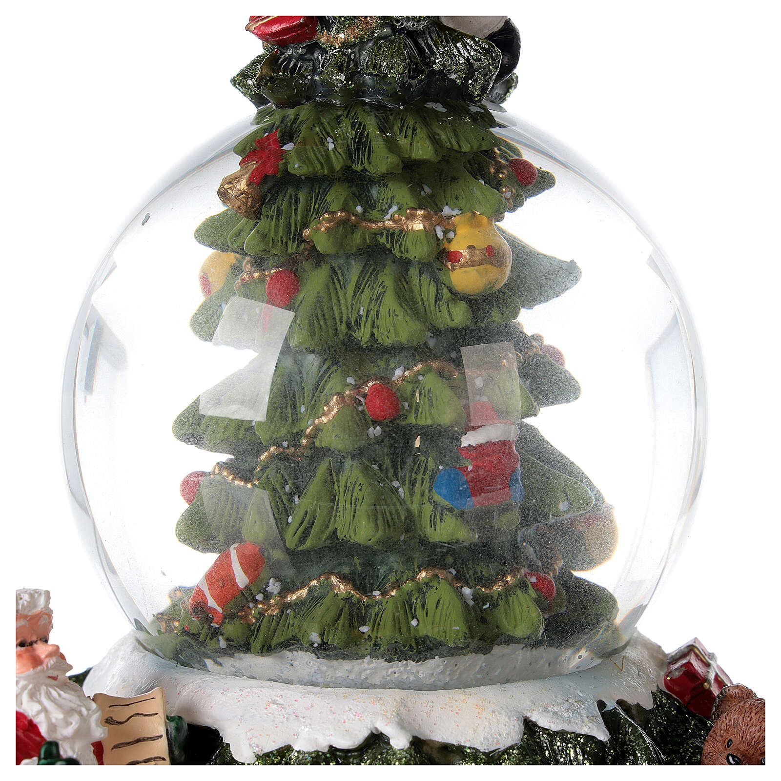 Christmas tree snow globe Santa music 15x10x10 cm 3