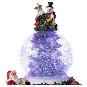 Christmas tree snow globe Santa music 15x10x10 cm s2