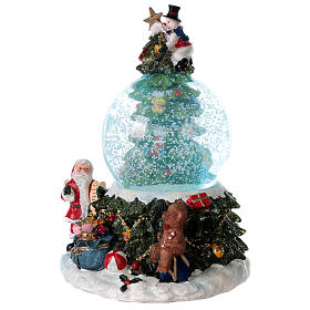 Christmas tree snow globe Santa music 15x10x10 cm s3