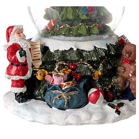 Christmas tree snow globe Santa music 15x10x10 cm s4