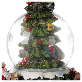 Christmas tree snow globe Santa music 15x10x10 cm s6