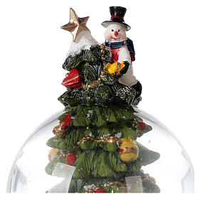 Christmas tree snow globe Santa music 15x10x10 cm s7
