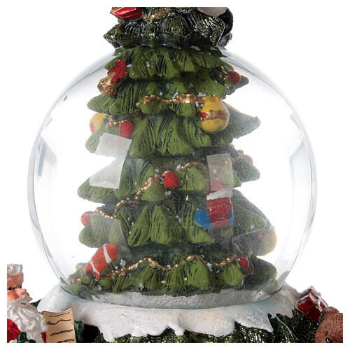 Christmas tree snow globe Santa music 15x10x10 cm 6
