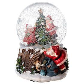 Musical snow globe Christmas tree 15x10x10 cm s2