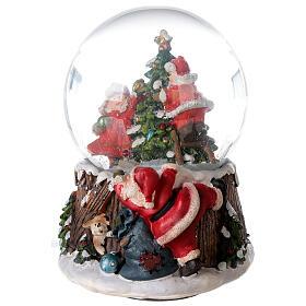 Musical snow globe Christmas tree 15x10x10 cm s3