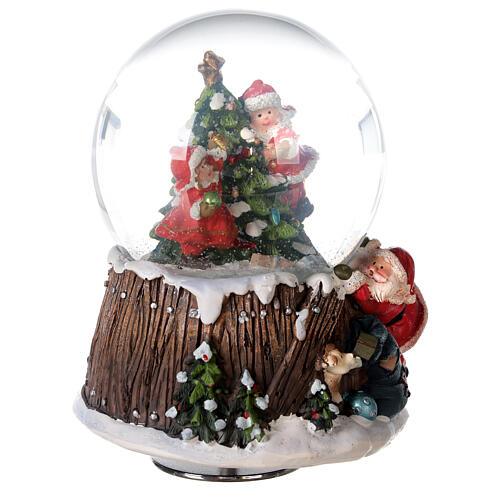 Musical snow globe Christmas tree 15x10x10 cm 5
