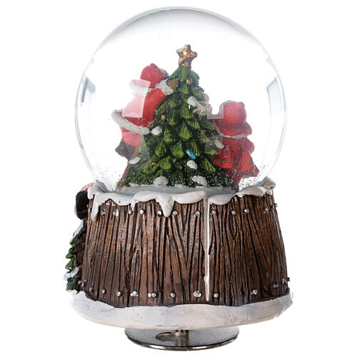 Musical snow globe Christmas tree 15x10x10 cm 7