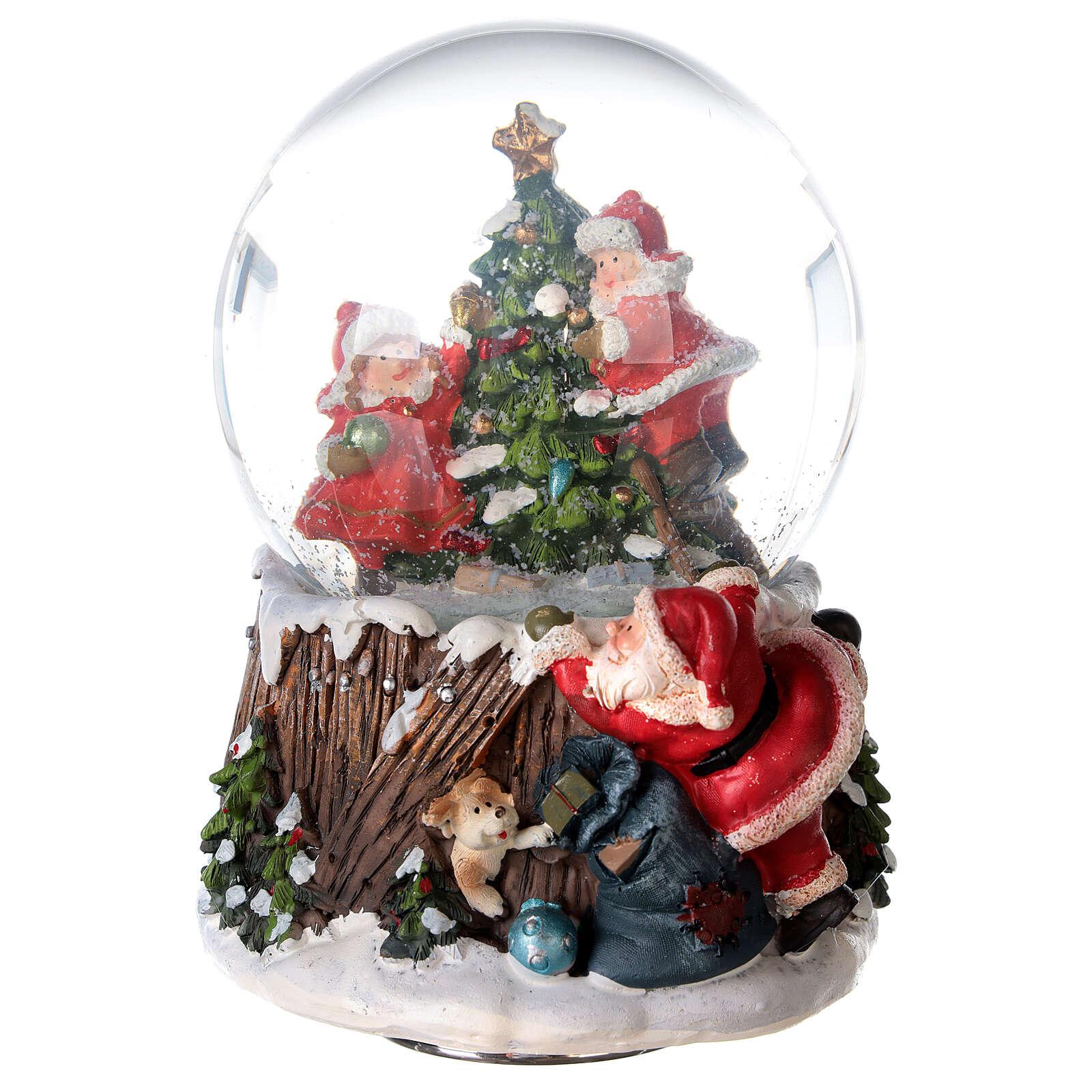 Musical snow globe Christmas tree 15x10x10 cm 3
