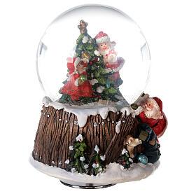 Musical snow globe Christmas tree 15x10x10 cm s5