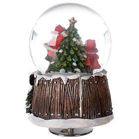 Musical snow globe Christmas tree 15x10x10 cm s7