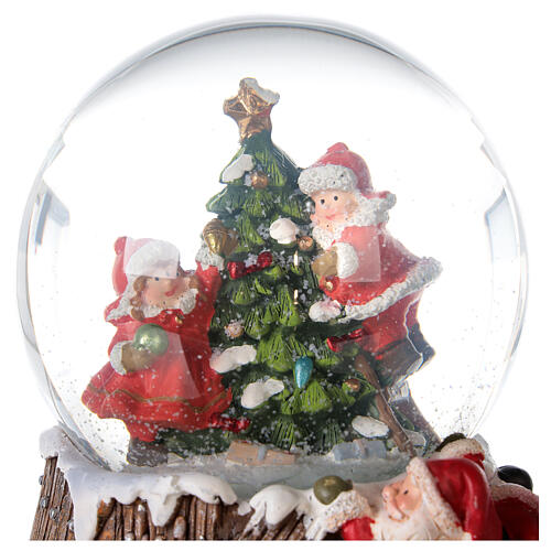 Musical snow globe Christmas tree 15x10x10 cm 4