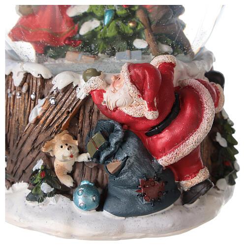 Musical snow globe Christmas tree 15x10x10 cm 6