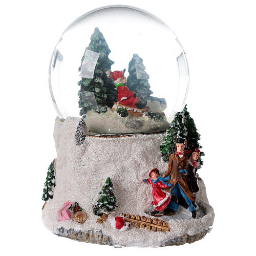 Musical snow globe ice skaters 15x15x15 cm 6