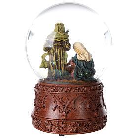 Boule à neige Nativité boîte musicale Douce nuit paillettes 15x10x10 cm s7