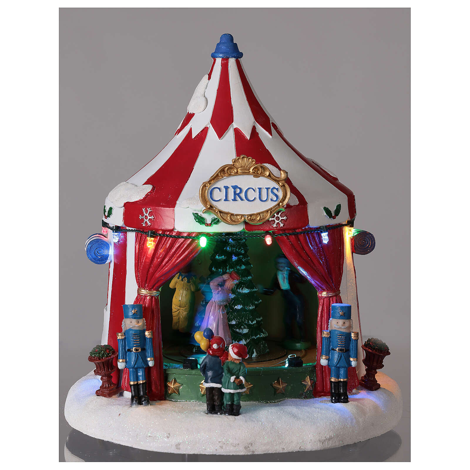 Christmas village Circus lights music battery operated 25x20x20 cm 3
