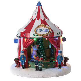 Christmas village Circus lights music battery operated 25x20x20 cm s1