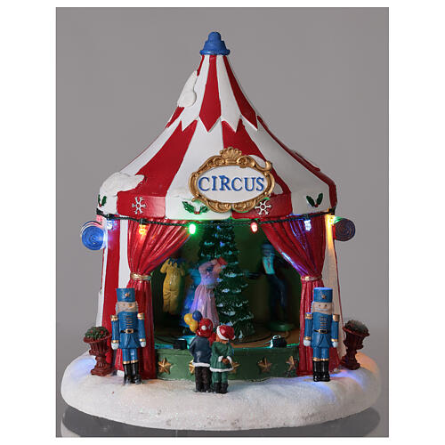 Christmas village Circus lights music battery operated 25x20x20 cm 2