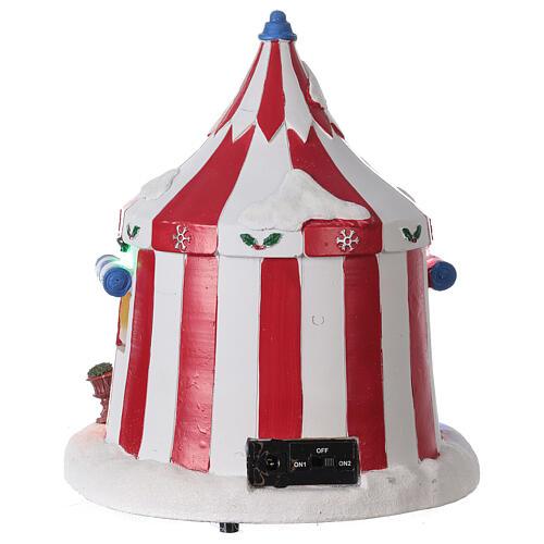 Villaggio Natale Circo luci musica batteria 25x20x20 cm 5