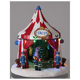 Christmas village Circus lights music battery operated 25x20x20 cm s2