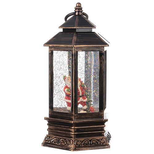 Sfera di vetro neve luce lanterna bronzo 25x15x15 cm 4