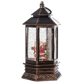 Bronze lantern Santa snow globe 25x15x15 cm s3