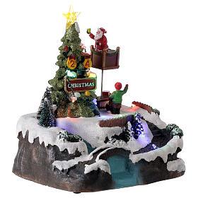 Christmas village decorating tree music LED multicolored 25x20x20 cm s4