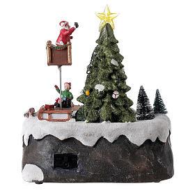 Christmas village decorating tree music LED multicolored 25x20x20 cm s5