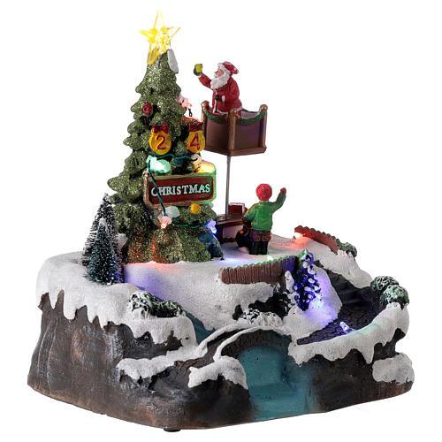 Christmas village decorating tree music LED multicolored 25x20x20 cm 4
